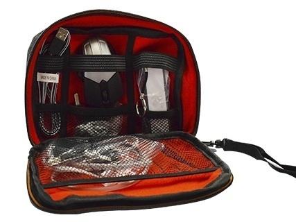 Naceb Kit de Viaje con Cargador Portátil NA-0402, 2200mAh, Negro - incluye Cargador para Auto/Mini Mouse/ Hub USB/Cable USB
