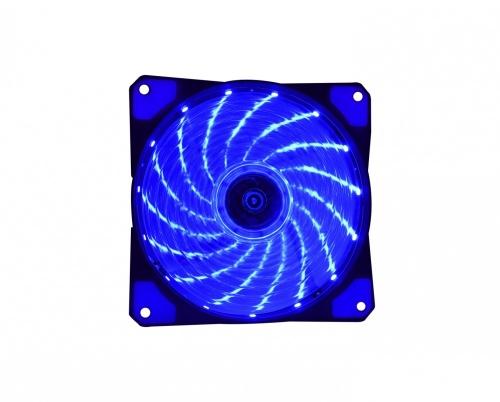 Ventilador Naceb NA-0920A LED Azul, 120mm, 1200RPM, Negro