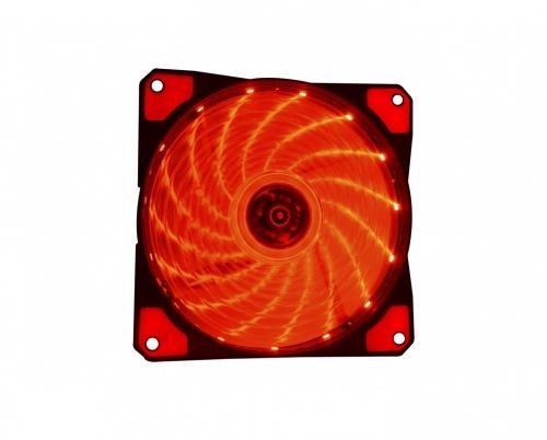 Ventilador Naceb NA-0920A LED Rojo, 120mm, 1200RPM, Negro