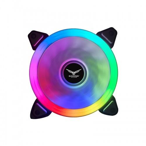 Ventilador Naceb Cepheus RGB, 120mm, 1200RPM, Negro