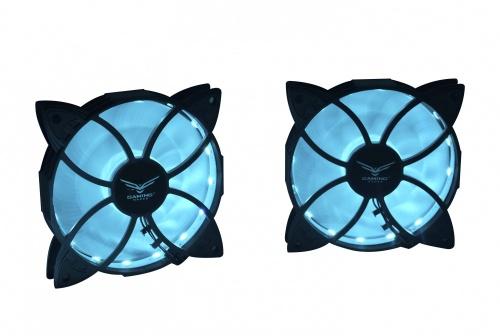 Kit de Ventilador Naceb DRACO RGB, 2x 120mm, 1200RPM, Negro - incluye 1 Tira RGB y Control
