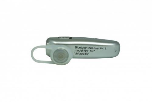 Naceb Manos Libres NA-597, Bluetooth, Inalámbrico, Plata
