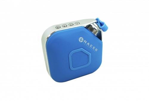 Naceb Bocina Portátil NA-598, Bluetooth, Inalámbrico, 3W RMS, Azul/Plata