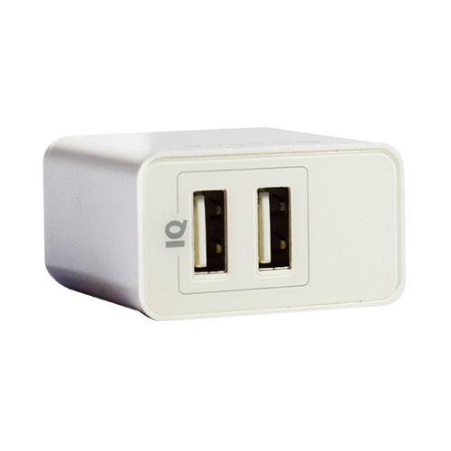 Naceb Cargador NA-604, 5V, 2x USB 2.0, Blanco