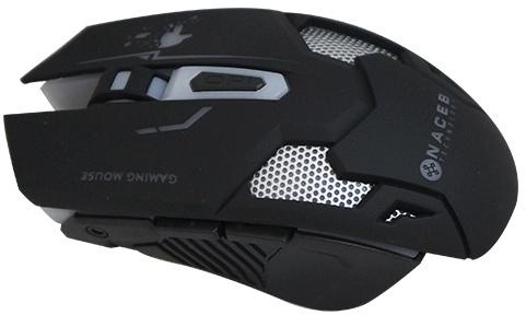 Mouse Naceb Láser NA-615, Alámbrico, USB, 2400DPI, Negro