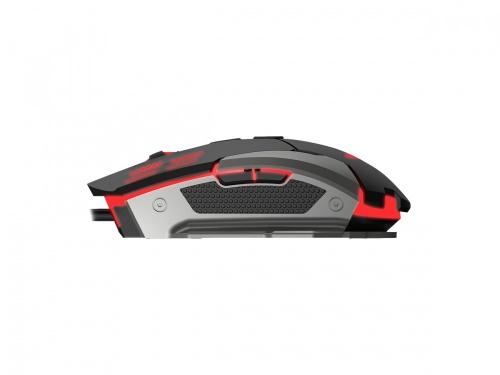 Mouse Gamer Naceb Láser NA-630, Alámbrico, USB, 2400DPI, Negro/Plata