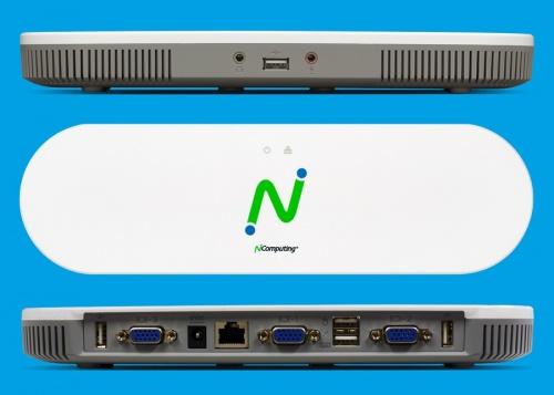 NComputing MX100 Thin Client para vSpace, 1x RJ-45, 3x USB 2.0, Gris/Blanco