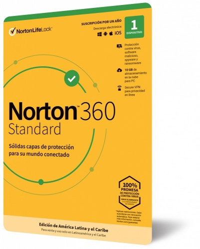 Norton LifeLock Security 360, 1 Usuario, 1 Año, Windows/Mac ― Producto Digital Descargable