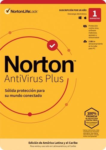 Norton LifeLock Antivirus Plus 2019, 1 Usuario, 1 Año, Windows/Mac ― Producto Digital Descargable ― ¡Obtén un descuento exclusivo al comprarlo con una laptop seleccionada!