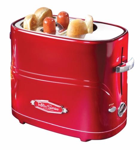 Nostalgia Maquina Tostadora de Hot Dogs HDT600RETRORED, Rojo