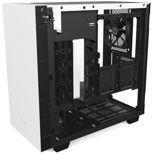 Gabinete NZXT H400 con Ventana, Mini-Tower, Mini-ITX/MicroATX, USB 3.0, sin Fuente, Blanco/Negro