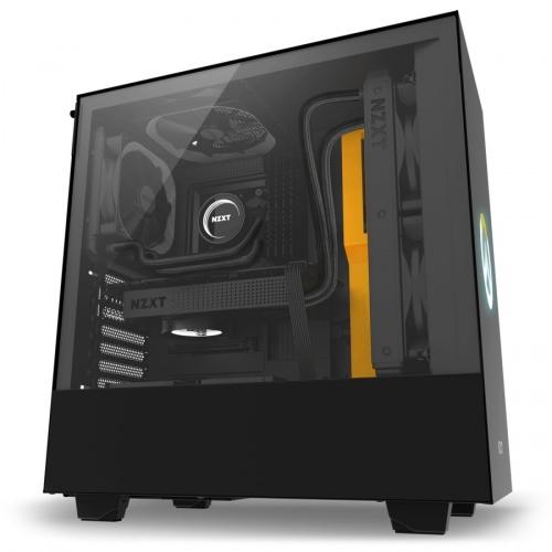 Gabinete NZXT H500 Overwatch con Ventana, Midi-Tower, ATX/Micro-ATX/Mini-ITX, USB 3.0, sin Fuente, Negro