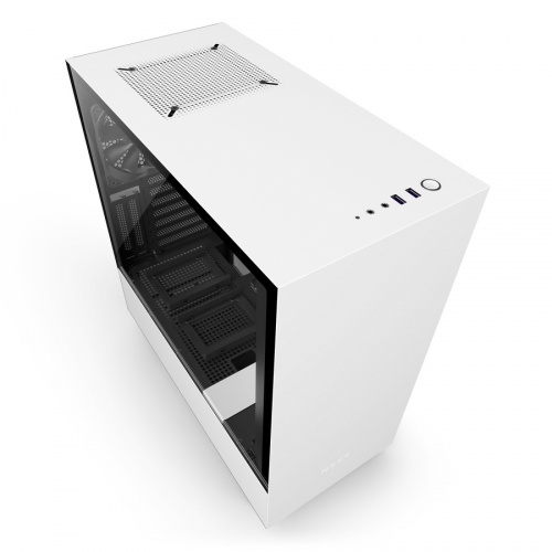 Gabinete NZXT H500i con Ventana, Midi-Tower, ATX/Micro-ATX/Mini-ITX, USB 3.0, sin Fuente, Blanco