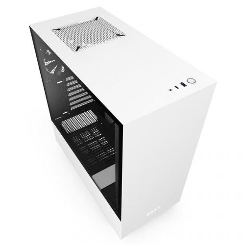 Gabinete NZXT H510 con Ventana, Midi-Tower, ATX,Micro-ATX,Mini-ATX, USB 3.1, sin Fuente, Blanco