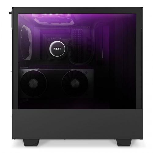Gabinete NZXT H510 Elite con Ventana RGB, Midi-Tower, ATX/EATX/Micro ATX/Mini-ATX, USB 3.0, sin Fuente, Negro