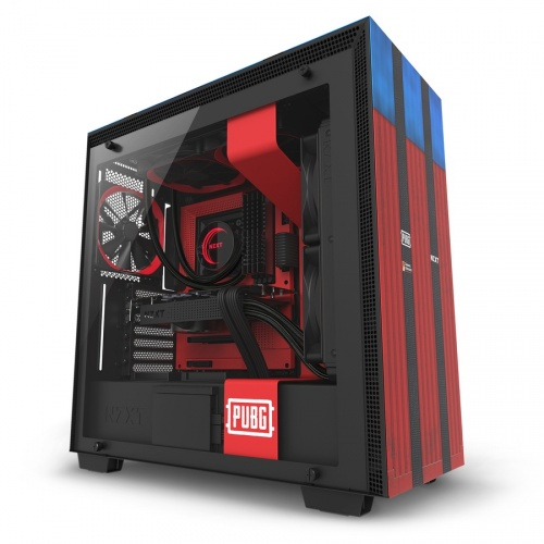 Gabinete NZXT H700 PUBG con Ventana, Midi-Tower, ATX/EATX/Micro-ATX/Mini-ITX, USB 2..0/3.0, Negro/Azul/Rojo