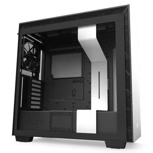 Gabinete NZXT H710 con Ventana, Midi-Tower, ATX/EATX/Micro-ATX/Mini-ATX, USB 3.1, sin Fuente, Negro/Blanco