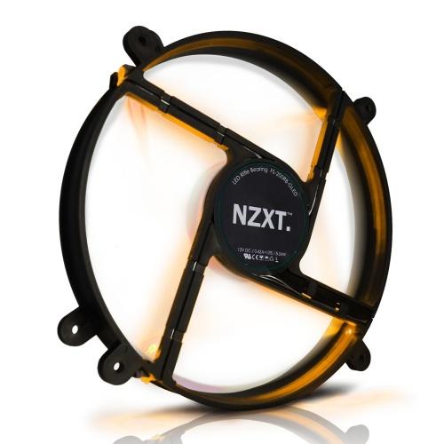 Ventilador NZXT FS 200 LED Naranja, 200mm, 500 - 900RPM, Negro