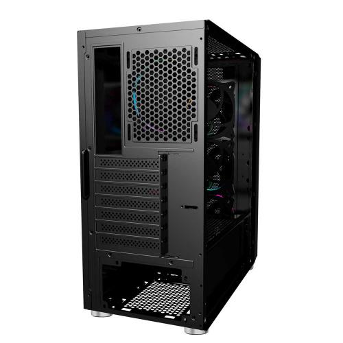 Gabinete Ocelot Gaming OGEC01 con Ventana RGB, Tower, ATX/Micro ATX/Mini-ITX, USB 2.0/3.0, sin Fuente, Negro