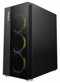 Gabinete Ocelot Gaming OGEC02 con Ventana, Tower, ATX/Micro ATX/Mini-ITX, USB 2.0/3.0, sin Fuente, Negro