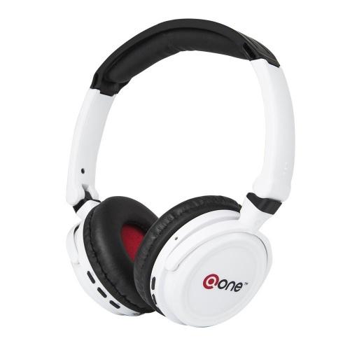 One Audífonos Spyder EHP-304, Bluetooth, Inalámbrico, Blanco/Negro