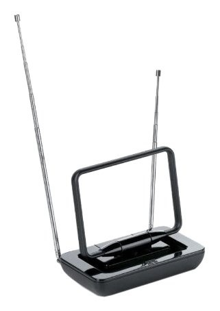 One For All Antena para Televisión SV 9015, para Interiores, DAB/DAB+/FM/UHF/VHF, Negro