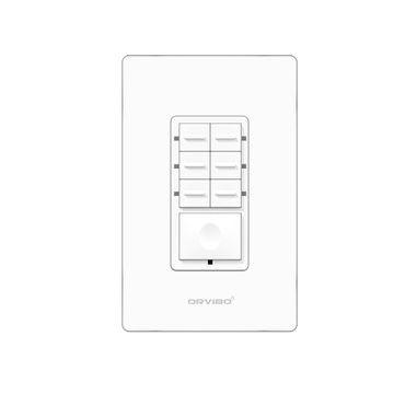 Orvibo Interruptor de Luz Inteligente T10S7ZW-1UO 7 Escenas, WiFi, Blanco
