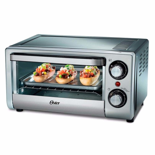Oster Horno Eléctrico TSSTTV10LTB-013, 1000W, Negro/Plata