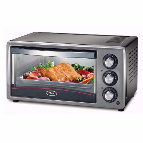 Oster Horno Eléctrico TSSTTV15LTB-013, 1300W, Negro/Plata