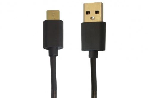 OvalTech Cable USB C Macho - USB Macho, 1 Metro, Negro