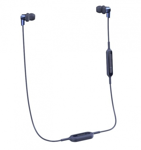 Panasonic Audífonos Intrauriculares con Micrófono RP-NJ310B, Inalámbrico, Bluetooth, USB, Azul