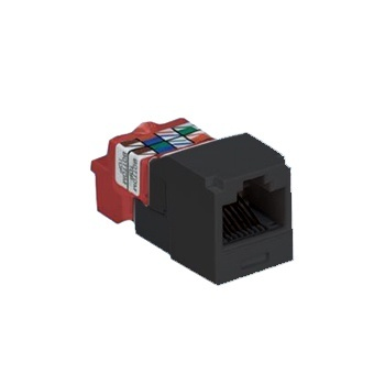 Panduit Jack Modular Mini-Com TX5e Cat5e, Negro