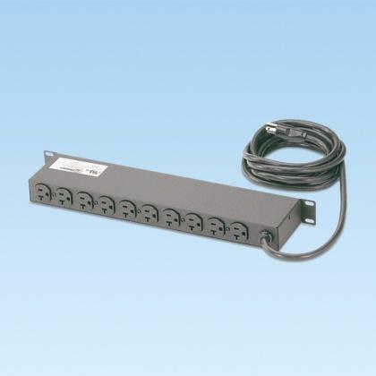 Panduit Barra Horizontal de Multicontactos para Rack 1U, 20A, 120V, 20 Contactos