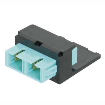 Panduit Módulo de 1 Adaptador de Fibra Óptica SC, Multimodo, OM3/OM4, Negro/Azul