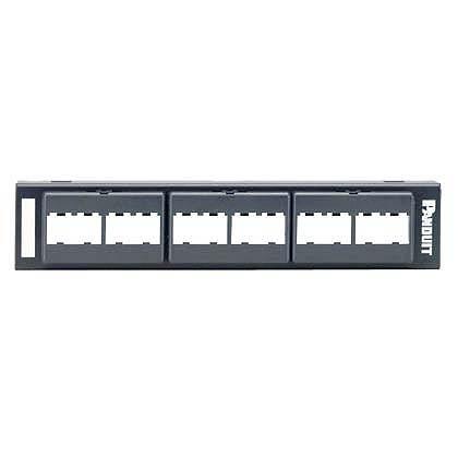 Panduit Panel de Parcheo CPP12WBL con 12 Puertos Mini-Com, Negro
