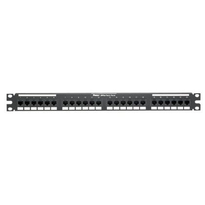 Panduit Panel de Parcheo de 24 Puertos, Categoría 6a, IP10 DP6 Plus, 10Gb/s, 1U, Negro