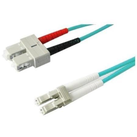 Panduit Cable Fibra Óptica Multimodo OM3 LC Macho - SC Macho, 2 Metros, Turquesa
