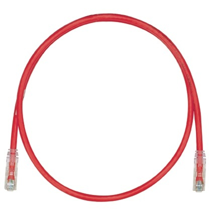 Panduit Cable Patch Cat6 UTP RJ-45 Macho - RJ-45 Macho, 30cm, Rojo