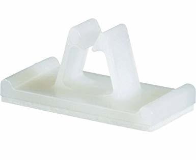 Panduit Clip Vertical para Cables con Adhesivo, 0.50'', Blanco, 500 Piezas