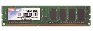 Kit Memoria RAM Patriot DDR3, 1600MHz, 2GB (1 x 1GB), CL9