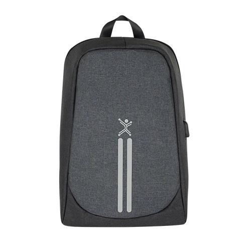 Perfect Choice Mochila de Poliéster Anti-Robo para Laptop 15.6'', Negro/Gris