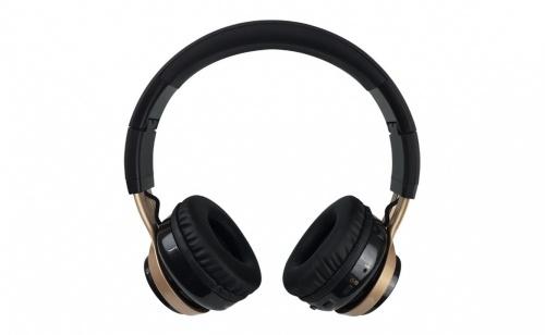 Perfect Choice Audífonos con Micrófono PC-116431, Bluetooth, Alámbrico/Inalámbrico, Negro/Oro