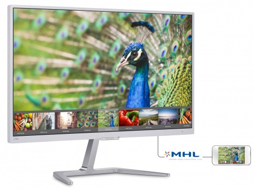 Monitor Philips LCD 27'', Full HD, Widescreen, HDMI, Blanco