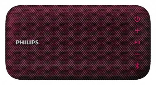 Philips Bocina Portátil BT3900B/00, Bluetooth, Inalámbrico, 4W RMS, Rojo - Resistente al Agua