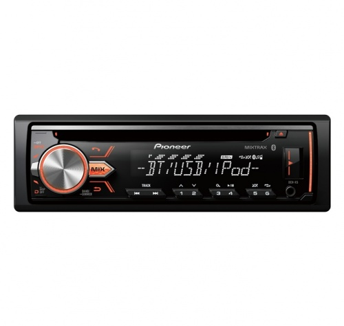 Pioneer Autoestéreo DEH-X5, CD, USB, Bluetooth, Negro