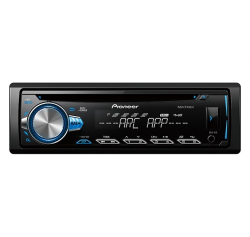 Pioneer Autoestéreo DEH-X10, 200W, MP3/CD/AUX/USB, Bluetooth, Negro