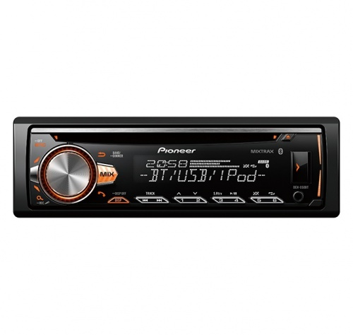Pioneer Autoestéreo DEH-X50BT, 88W, MP3/CD/AUX/USB, Bluetooth, Negro
