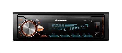 Pioneer Autoestéreo MVH-X30BT, 88W, FLAC/MP3/WAV/WMA, Bluetooth/USB/CD, Negro