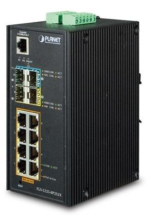 Switch Planet Gigabit Ethernet IGS-5225-8P2S2X, 8 Puertos 10/100/1000 + 2 Puertos SFP + 2 Puertos SPF+, 60Gbit/s, 16.000 Entradas - Gestionado