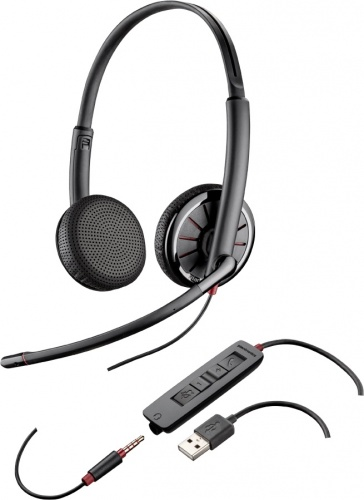 Plantronics Audífonos con Micrófono C325-M, Alámbrico, 3.5mm, USB, Negro